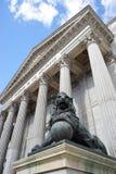 代理的国会,马德里,西班牙 免版税库存图片