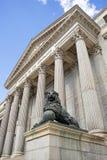 代理的国会,马德里,西班牙 免版税库存照片