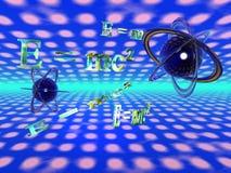理论上e mc的物理 库存照片