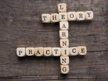 理论和实践 免版税库存照片