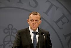 总理LARS LOKKE拉斯姆森_BEDRE平衡 免版税图库摄影