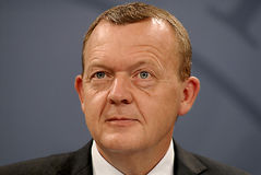总理LARS LOKKE拉斯姆森_BEDRE平衡 库存图片
