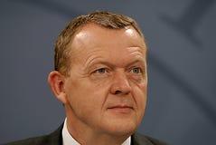 总理LARS LOKKE拉斯姆森_BEDRE平衡 库存照片