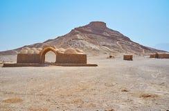 琐罗亚斯德教的埋葬仪式地方,亚兹德,伊朗 免版税图库摄影