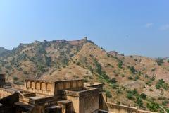 琥珀和Jaigarh堡垒,斋浦尔 免版税库存照片