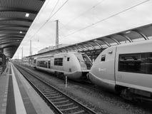 琥珀火车站 库存照片