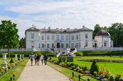 琥珀色的博物馆在植物的公园,帕兰加,立陶宛 免版税库存照片