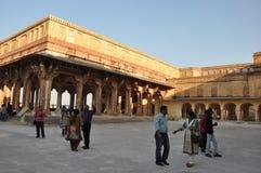 琥珀色的堡垒印度斋浦尔 免版税库存图片
