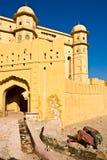 琥珀色的堡垒印度斋浦尔 库存图片