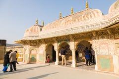 琥珀色的堡垒印度斋浦尔 库存照片