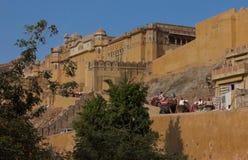 琥珀色的堡垒印度 库存图片
