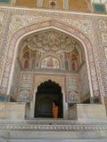 琥珀色的堡垒在斋浦尔,印度 免版税库存图片