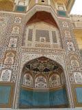 琥珀色的堡垒在斋浦尔,印度 免版税库存照片