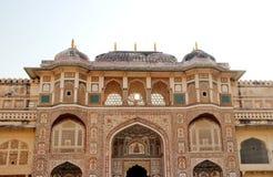 琥珀色的堡垒在斋浦尔,拉贾斯坦,印度 免版税库存图片