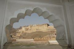 琥珀色的堡垒在斋浦尔 免版税库存图片