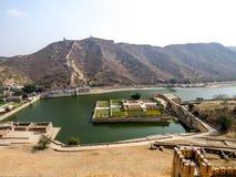 琥珀色的堡垒拉贾斯坦,印度 库存照片