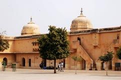 琥珀色的堡垒,斋浦尔印度 免版税图库摄影