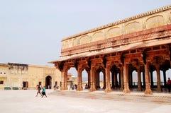琥珀色的堡垒,斋浦尔印度 库存图片