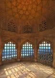 琥珀色的堡垒,斋浦尔,印度内部  免版税库存图片