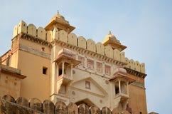 琥珀色的堡垒,斋浦尔,印度 图库摄影