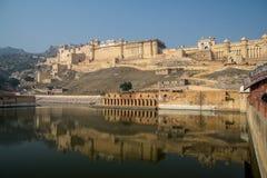 琥珀色的堡垒,斋浦尔 库存图片