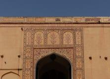 琥珀色的堡垒:门细节 库存图片