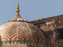 琥珀色的堡垒:Ganesh波尔布特 库存照片