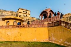 琥珀色的宫殿,斋浦尔,拉贾斯坦状态,印度 库存照片