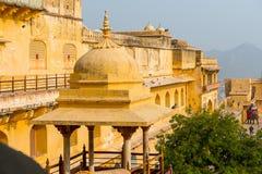 琥珀色的宫殿,斋浦尔,拉贾斯坦状态,印度 免版税库存图片