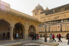 琥珀色的宫殿,斋浦尔,拉贾斯坦状态,印度 免版税库存照片
