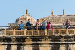 琥珀色的宫殿,斋浦尔,拉贾斯坦状态,印度 库存图片