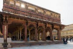 琥珀色的宫殿,斋浦尔,拉贾斯坦状态,印度 图库摄影