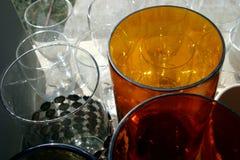 琥珀色的玻璃 免版税库存照片