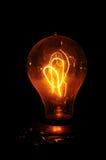 琥珀色的电灯泡爱迪生光 库存图片