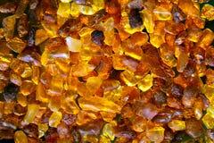琥珀色的石头 免版税库存照片