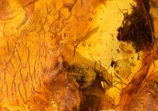 琥珀色的石纹理 库存照片