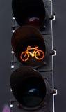 琥珀色的自行车光 免版税图库摄影