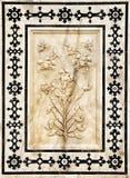 琥珀色的装饰的详细资料堡垒palas 库存照片