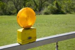琥珀色的警告灯 图库摄影