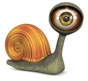 琥珀色的颜色眼睛蜗牛 免版税图库摄影