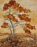 琥珀色的结构树 图库摄影