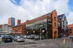 琥珀色的Autentic沙龙商店,餐馆Memelis (Katpedele) 免版税图库摄影