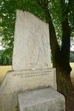 琥珀,德国-对19世纪E的德国作家的纪念石头 T A Hoffmann 库存图片