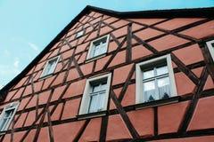 琥珀,德国- 04 01 2013年:琥珀街道的看法晴朗的天气的 库存图片