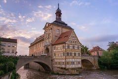 琥珀,德国- 2016年6月03日:琥珀老城镇厅, 库存照片