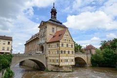 琥珀,德国- 2016年6月03日:琥珀老城镇厅, 免版税库存图片
