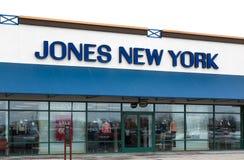 琼斯纽约商店外部 免版税库存图片