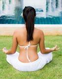 瑜伽会议 免版税库存图片