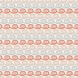 瑜伽传染媒介无缝的样式 浅兰,米黄 免版税库存照片