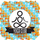 瑜伽俱乐部概念 免版税库存照片